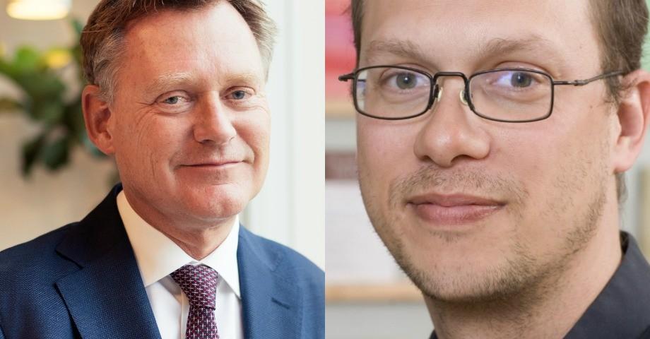 Peter Fredriksson, generaldirektör för Skolverket och Jonas Vlachos, nationalekonom.