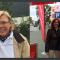 Ulrike Boterman t.h. har inte bestämt hur hon ska rösta än. T.v. valarbetarna Kerstin Walter och Grit Schkölziger, SPD.