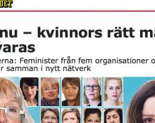 Debatt i Aftonbladet, skärmdump.