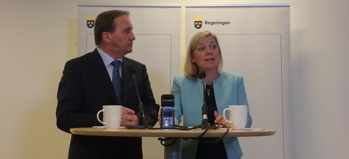 Stefan Löfven och Magdalena Andersson.