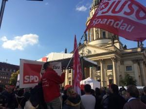 Berlin laddar för tal med SPD:s Martin Schultz Foto: Elsa Persson