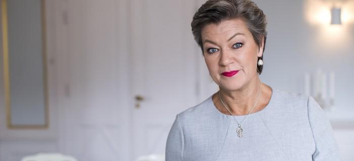 Arbetsmarknadsminister Ylva Johansson Arbetsmarknadsdepartement