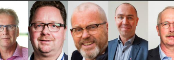 Mikael Johansson, Magnus Pettersson, Johan Lindholm, Jonas Wallin, Valle Karlsson.
