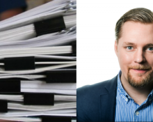Företagarna tycker att kollektivavtalen är för omfattande och krångliga för småföretag. T.h. Günther Mårder, vd Företagarna. Bild: Flickr/unk's dump truck och Företagarna.