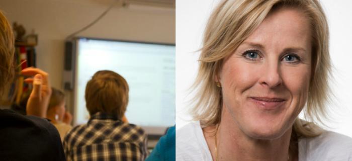 T.h Åsa Fahlén, Lärarnas riksförbund. Bild: Elisabeth Ohlson Wallin