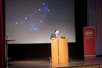 Scott Goodstein talar på Socialistiskt Forum FOTO: Simon Hansson