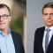 Johan Hansing, Bankföreningen (t.v) och Per Bolund (MP), finansmarknadsminister. Bild: Svenska Bankföreningen, Kristian Pohl/Regeringskansliet.