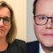 Lena Högback, Skolinspektionen och Olle Burell (S), skolborgarråd. Bild: Skolinspektionen och Lieselotte van der Meijs.