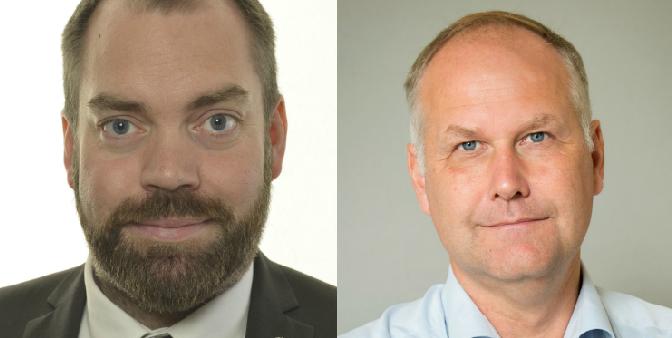 Fredrik Lund Sammeli (tv.), Jonas Sjöstedt (th.) FOTO: Regeringen, Vänsterpartiet/press