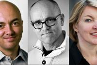 Torbjörn Hållö, LO, John Hassler, IIES, och Åsa Hansson, Lunds universitet.
