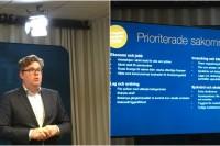 Moderaternas partisekreterare Gunnar Strömmer presenterade valstrategin för valet 2018