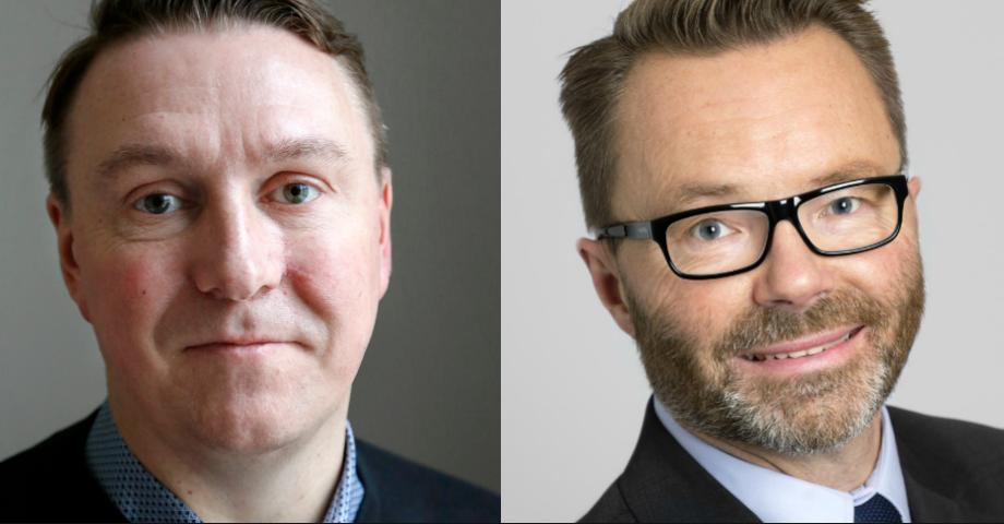 Jens Sjöström (S) och Peter Carpelan (M).
