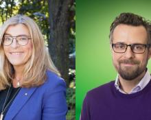 Therese Guovelin, LO och Henrik Ehrenberg, Unionen.