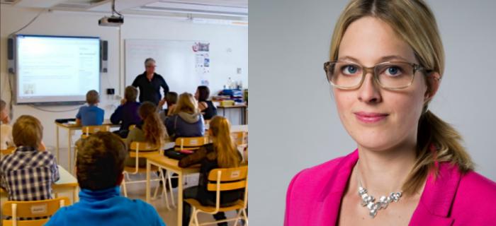 Helene Öberg, statssekreterare (MP).