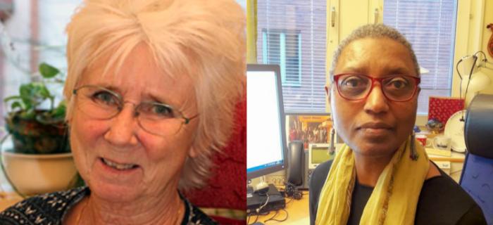 Birgitta Jordansson och Linda Lane