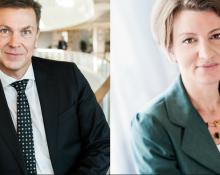 Niclas Lindahl, SKL och Åsa Erba Stenhammar, Facket ST.