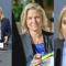 Magdalena Andersson vid tre olika budgetpresentationer. Bild i mitten: Victor Svedberg.