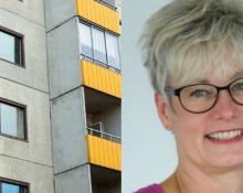 Marie Linder, ordförande Hyresgästföreningen.