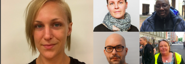 Louise Olsson,Karin Åkersten, Cham Ispa, Kebba Trawally, Ulla-Britt Salomonsson.
