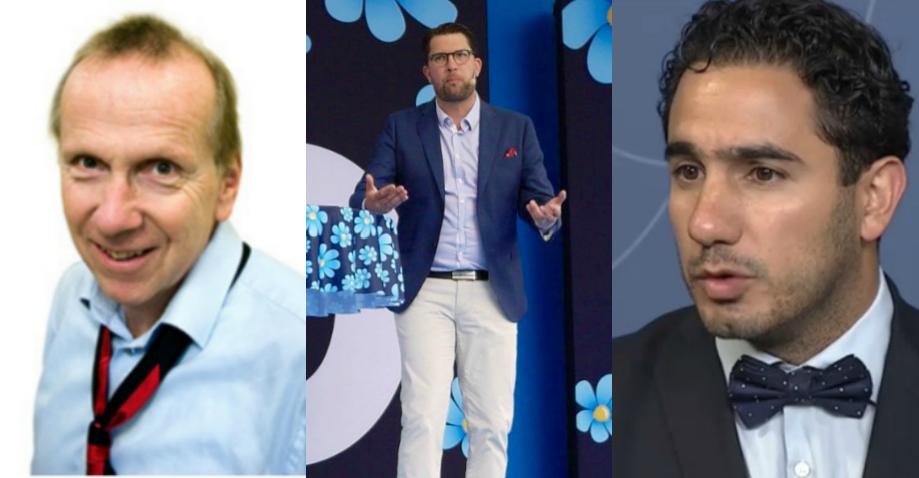 Widar Andersson, Jimmie Åkesson (SD) och Ardalan Shekarabi (S).