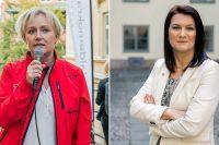 Porträttbilder på Helene Hellmark-Knutsson och Ann Linde