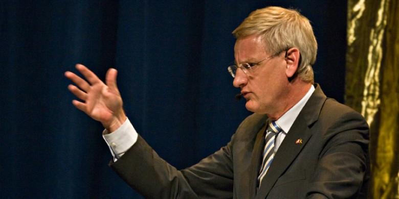 Utrikesminister Carl Bildt. Bild: Flickr/Sveriges Informationsförening