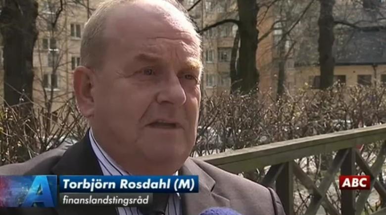 Finanslandstingsrådet Torbjörn Rosdahl (M). Foto: Skärmdump från SVT.