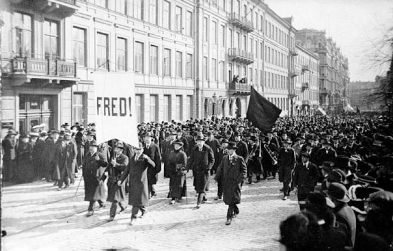 Bild: 1 maj i Stockholm 1917.