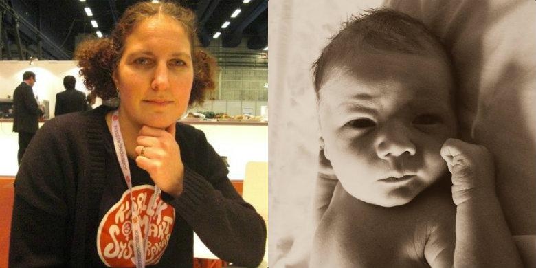 Alexandra Einerstam och sonen Theodor. Bild: Privat