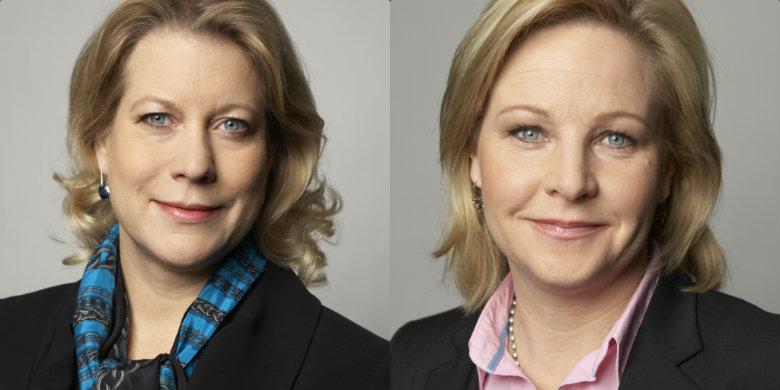 Catharina Elmsäter Svärd och Hillevi Engström. Foto: Regeringskansliet