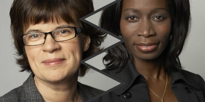 Amelie von Zweigbergk och Nyamko Sabuni. Bild: Regeringskansliet
