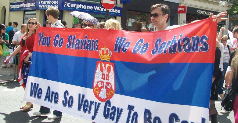 Fotot är taget under Prideparaden i London. Bild: Flickr/anemoneprojectors