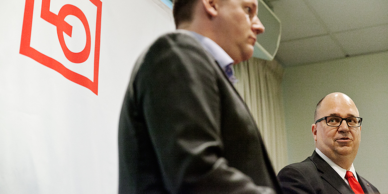 Tobias Baudin och Karl-Petter Thorwaldsson. Foto: Jessica Segerberg