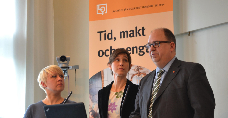 Ulrika Vedin, Joa Bergold och Karl-Petter Thorwaldsson.