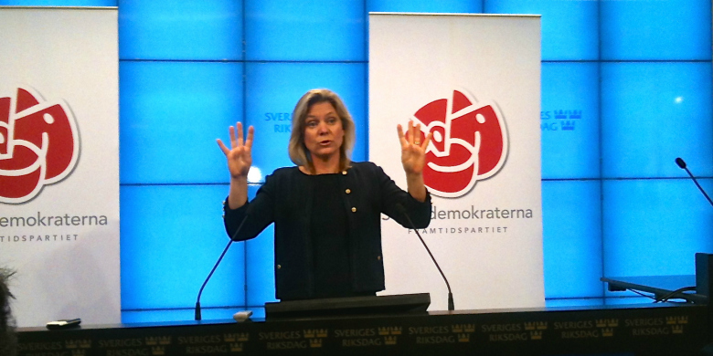 Magdalena Andersson, socialdemokraternas ekonomisk-politisk talesperson. BILD: Örjan Benzinger