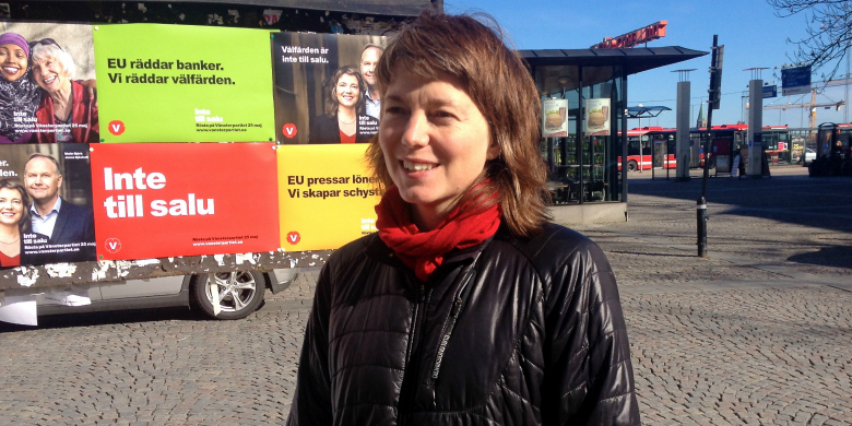 Malin Björk, Vänsterpartiets förstanamn på EU-listan. BILD: Örjan Benzinger