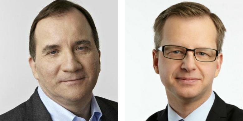 Stefan Löfven och Mikael Damberg. Foto: Flickr.com/Magnus Selander och Socialdemokraterna.