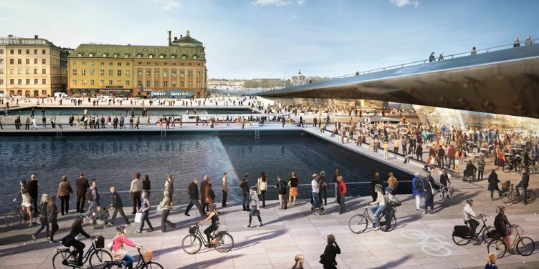 Nya Slussen. Källa: Foster Partners och Berg Arkitektkontor
