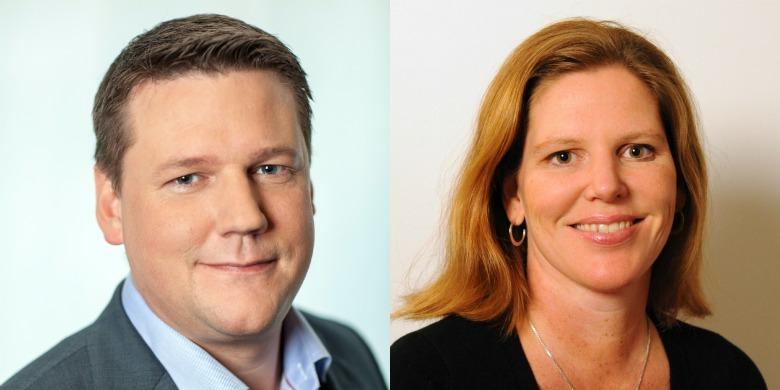 Tobias Baudin och Elisabeth Brandt-Ygeman, LO. Bild: Pressbild