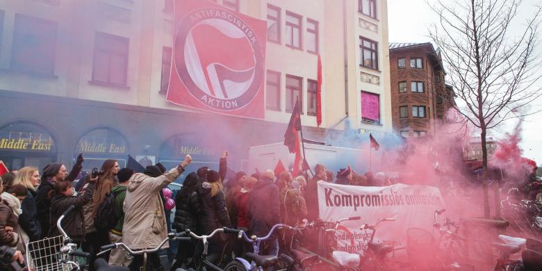 Bilden är tagen under tidigare demonstrationer i Malmö och har ingenting med helgens händelser att göra. Bild: News Öresund/ Johan Wessman