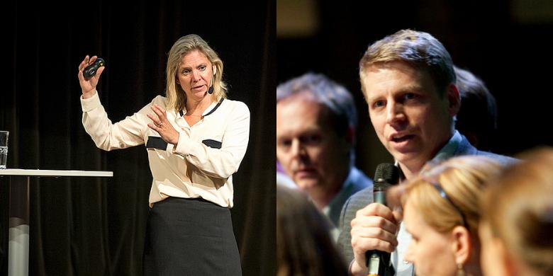 Magdalena Andersson (S) och Per Bolund (MP) Bild: Pressbild/ Anders Löwdin