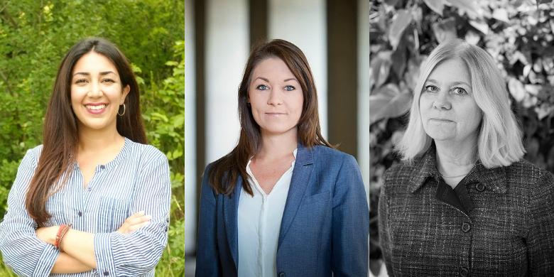 Lawen Redar, Maria Ferm och Lena Josefsson Bild: Pressbild/ Fredrik Hjerling/ Privat