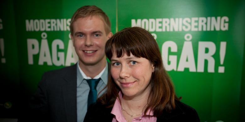 Gustav Fridolin och Åsa Romson Bild: Fredrik Hjerling