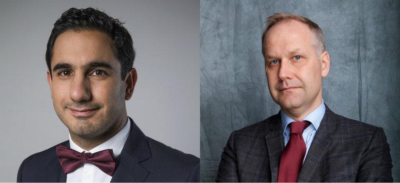Ardalan Shekarabi (S) och Jonas Sjöstedt (V). Foto: Kristian Pohl och Kalle Larsson