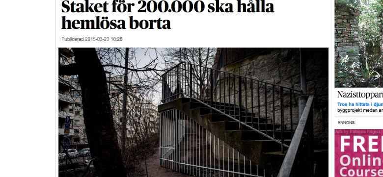 Bild: Skärmdump från dn.se