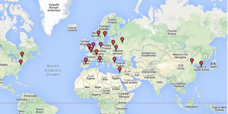 Världens största vapenexportörer 2010- 2014.
