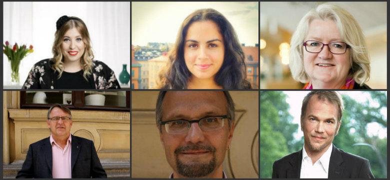 Ellinor Eriksson, Talla Alkurdi, CarinaOhlsson, Peter Weiderud, Ulf Bjereld och Sören Juvas