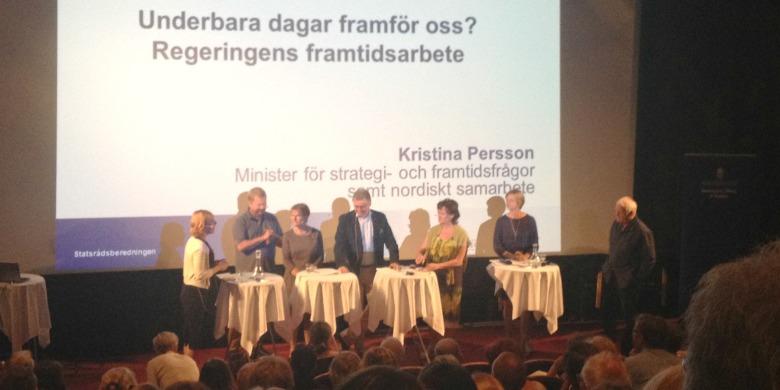 Bild från regeringens framtidsseminarium under Almedalsveckan 2015.