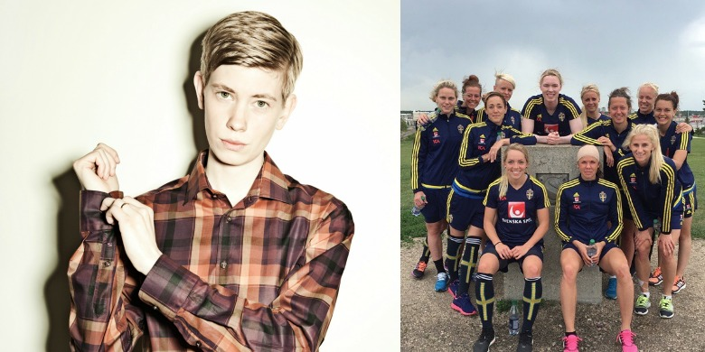 Moa Svan Bild : Jenny Jarnestedt Det riktiga landslaget Bild: Instagram/ swewnt