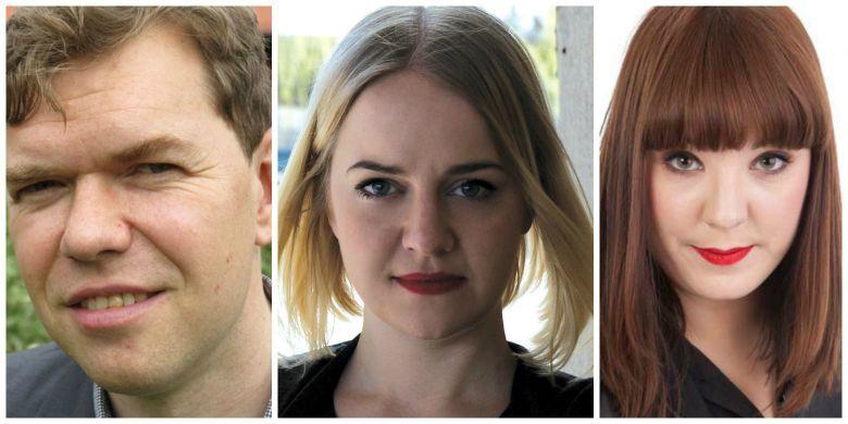 Aron Etzler, Hanna Cederin och Anna Herdy.